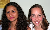 Andrea, with her teacher Ericka, was the first student that we prepared for the DELE Exam